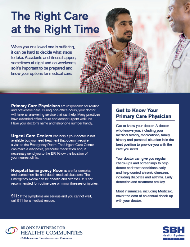 Image of Right Care Flier in English