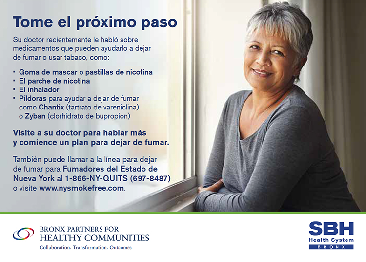 Image of Smoking Cessation Flier in Spanish