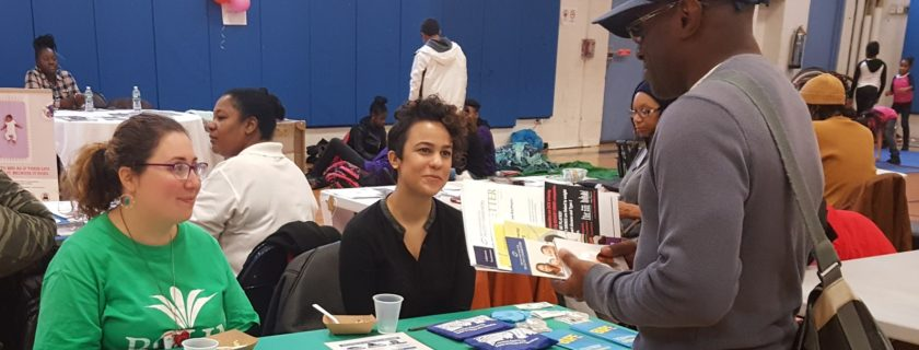Seven member CBOs participating in BPHC's community health literacy program recently collaborated to host a health fair for local residents.